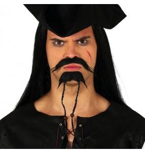 Moustache et bouc Pirate Jack Sparrow