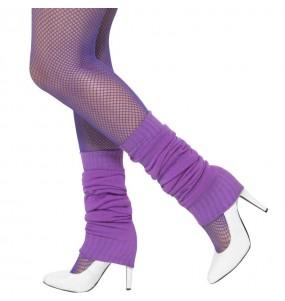 Guêtres Violet Fluo déguisement