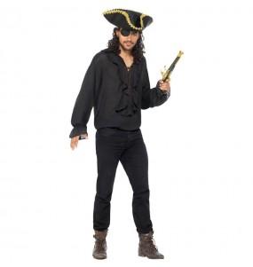 Chemise Pirate noire pour homme