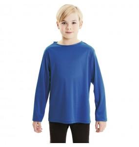 T-shirt bleu enfants à manches longues