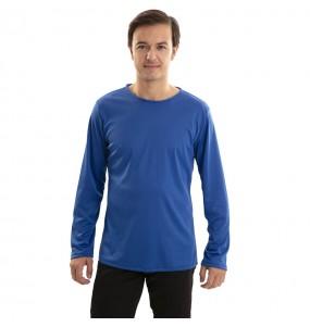 T-shirt bleu adulte à manches longues