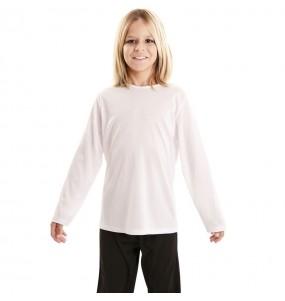 T-shirt blanc enfants à manches longues