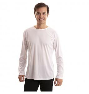 T-shirt blanc homme à manches longues