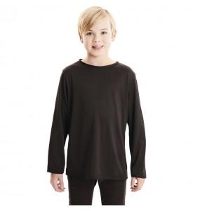 T-shirt noir enfants à manches longues