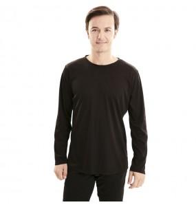 T-shirt noir adulte à manches longues