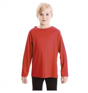 T-shirt rouge enfants à manches longues