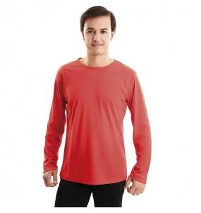 T-shirt rouge adulte à manches longues