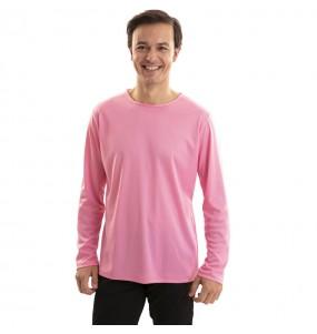 T-shirt rose adulte à manches longues