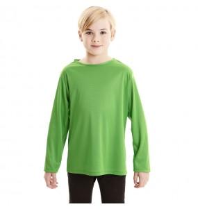 T-shirt vert enfants à manches longues