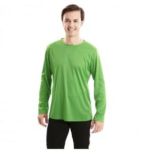 T-shirt vert adulte à manches longues