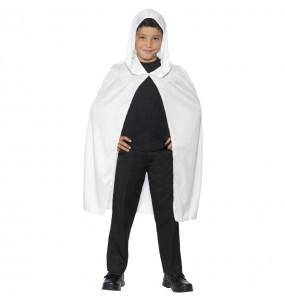 Cape à capuche blanche pour enfants