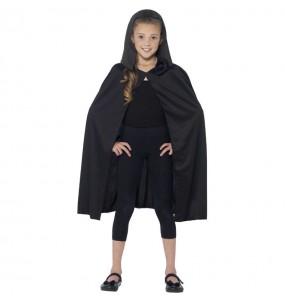 Cape avec capuche noire enfant