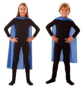 Cape super héros bleue enfant