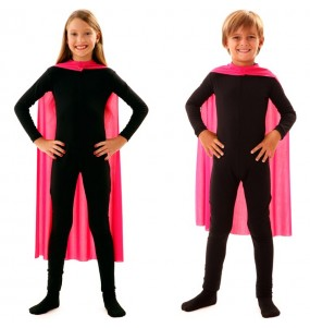 Cape super héros rose enfant