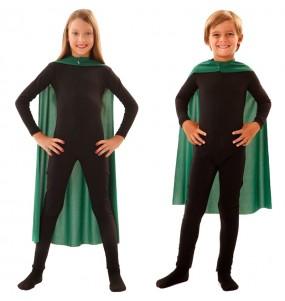 Cape super héros verte enfant