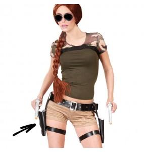 Holster Lara Croft double avec pistolet