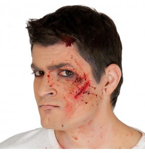 Fausse cicatrice visage coupé