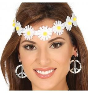 Bandeau Hippie avec fleurs blanches