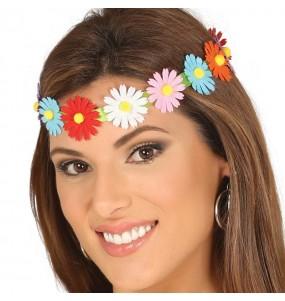 Bandeau Hippie avec fleurs multicolore