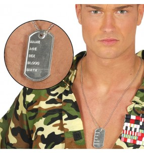 Collier identification Militaire