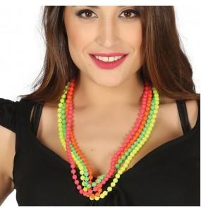 Collier à perles neon