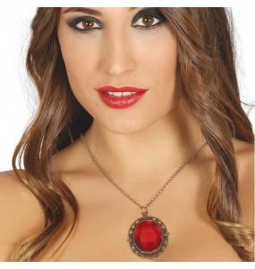 Collier Médiéval avec rubis