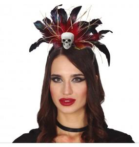 Serre-tête Cannibale vaudou avec plumes