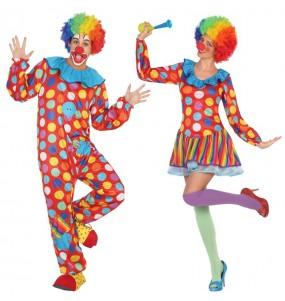 Déguisements Clowns Multicolore