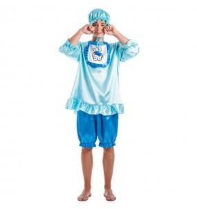 Déguisement Bébé Pleurnicheur bleu pour homme