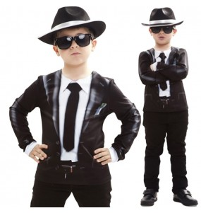 Déguisement Tee-shirt Blues Brothers enfant