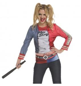 Déguisement Tee-shirt Harley Quinn femme
