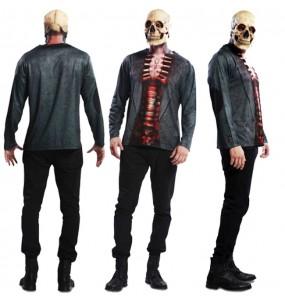 Tee-shirt hyperréaliste Squelette