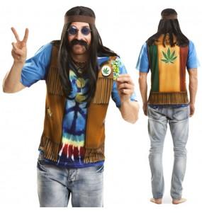 Tee-shirt Hippie hyperréaliste adulte