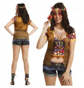 Tee-shirt hyperréaliste Hippie Femme