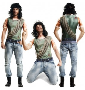 Tee-shirt hyperréaliste John Rambo