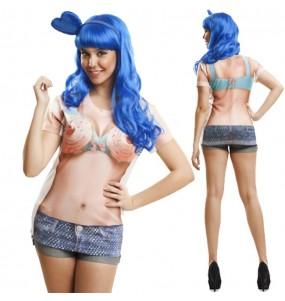Tee-shirt hyperréaliste Katy Perry Cupcake