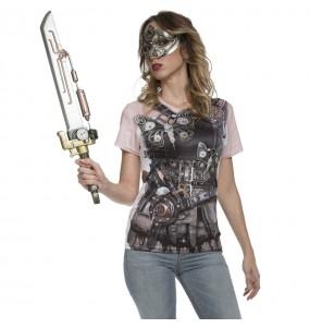 Déguisement Tee-shirt Steampunk femme