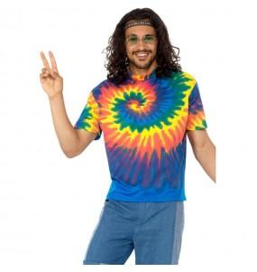 Déguisement Tee-shirt Tie Dye Hippie