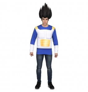 Tee shirt déguisement Vegeta Dragon Ball adulte