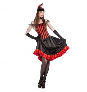 Déguisement Danseuse Cabaret rouge pour femme