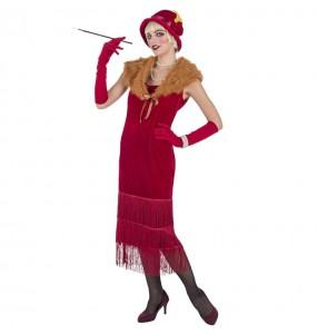 Déguisement Charleston années 20 Rouge pour femme