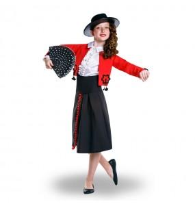 Déguisement Cordouane Flamenco rouge pour fille