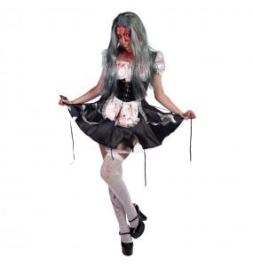 Déguisement Soubrette Zombie pour femme