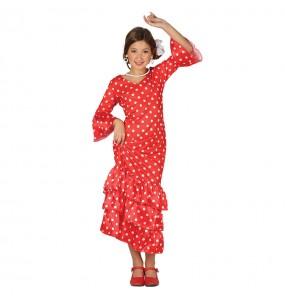 Déguisement Flamenco Sévillane Rouge
