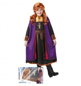 Déguisement Anna Frozen avec perruque fille