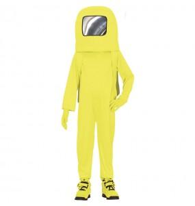 Déguisement Astronaute Among us jaune garçon