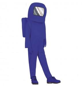 Déguisement Astronaute Among us bleu garçon