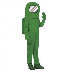 Déguisement Astronaute Among us vert garçon