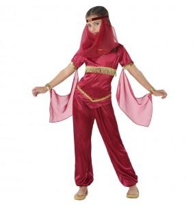 Déguisement Princesse Arabe rouge fille