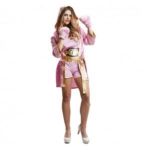 Déguisement Boxeuse rose pour femme